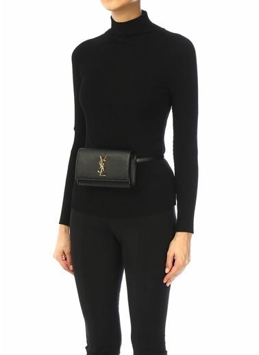 Saint Laurent Saint Laurent Kate  Logolu Kadın Deri Bel Çantası 101622453 Siyah
